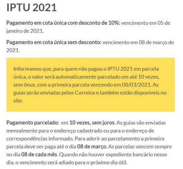 Prefeitura de Porto Alegre / IPTU 2021 e Serviços